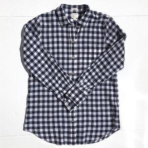 J Crew Factory Gingham Boyfit Button up Sz XS